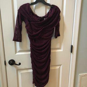 Wine Color Dress